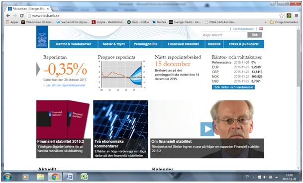 Riksbankenhemsida